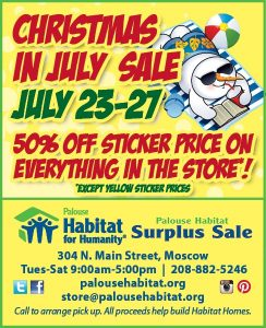 Christmas In July Sale Images.Christmas In July Sale Palouse Habitat For Humanity