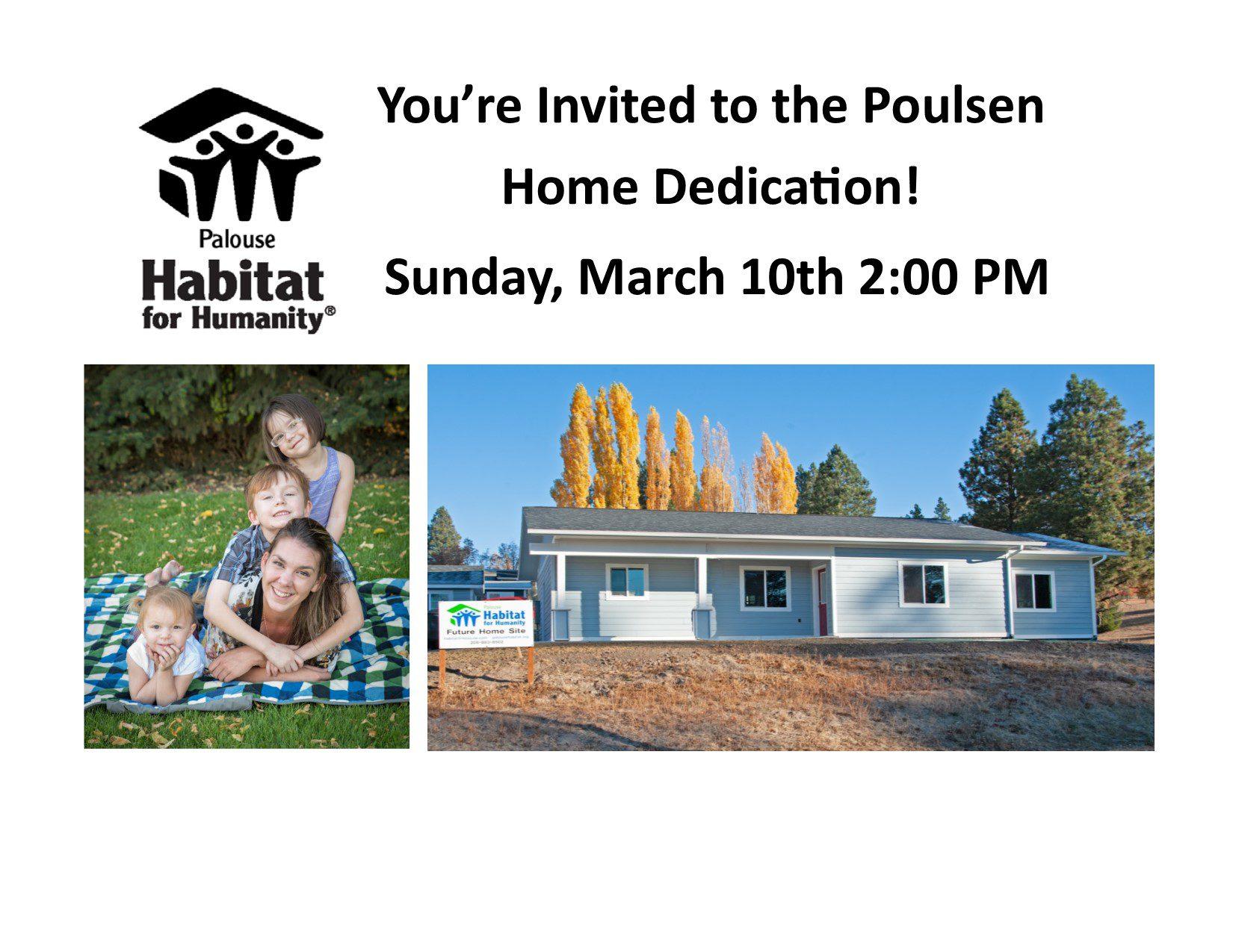 8x11 Poulsen Dedication invite for 2