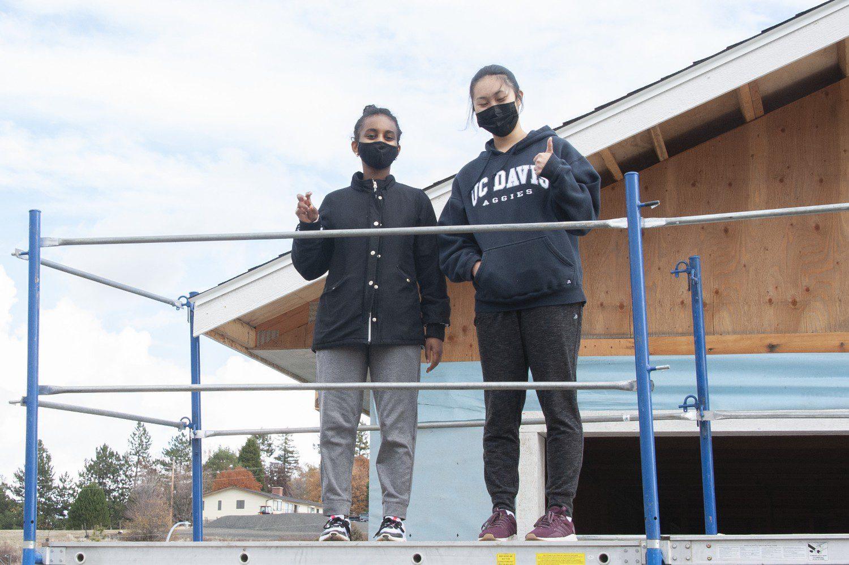Key Club Volunteers Ready to Install Soffit
